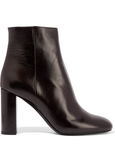 Yves Saint Laurent LouLou glossed-leather ankle boots