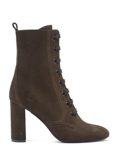 Saint Laurent Loulou lace-up suede ankle boots