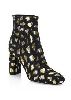 Yves Saint Laurent Loulou Leopard Ankle Boots