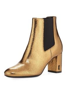 Saint Laurent LouLou Metallic Ankle Boot
