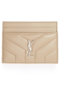 Saint Laurent Loulou Monogram Quilted Leather Credit Card Case