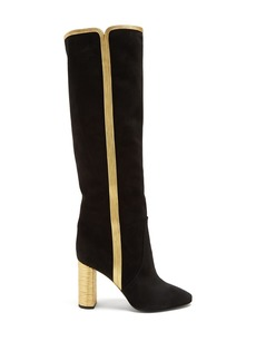 Saint Laurent Loulou suede knee-high boots