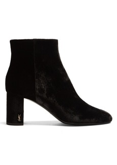 Yves Saint Laurent Saint Laurent Loulou velvet ankle boots