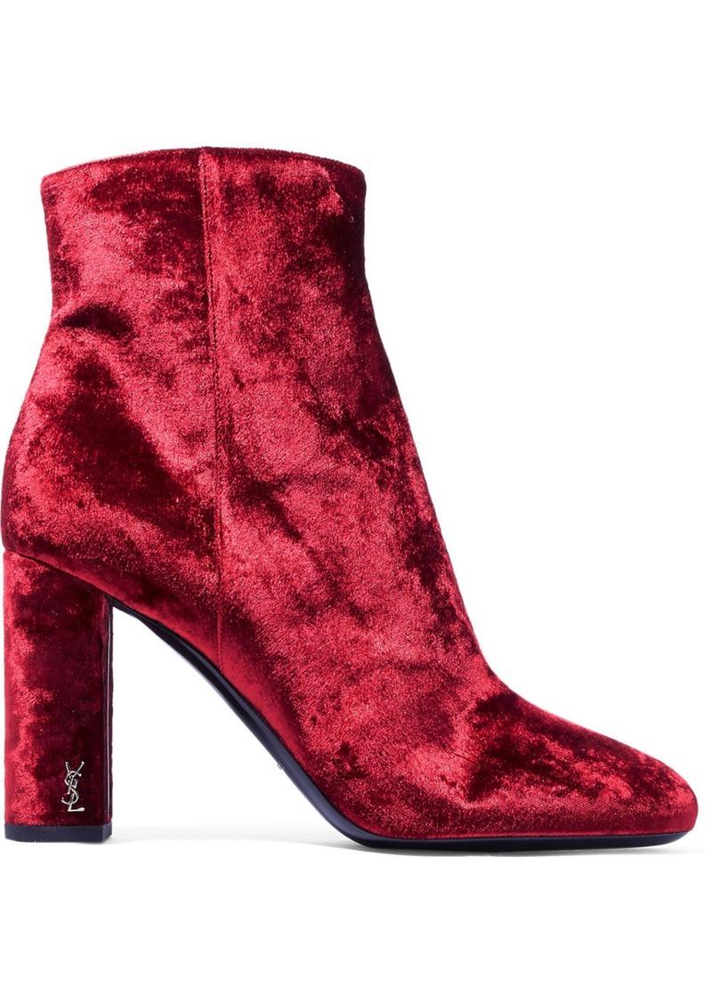 b9964ae3800 Saint Laurent Saint Laurent Loulou velvet ankle boots   Shoes
