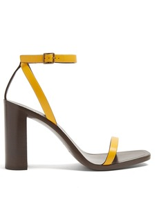 Yves Saint Laurent Saint Laurent Loulou wood and leather sandals