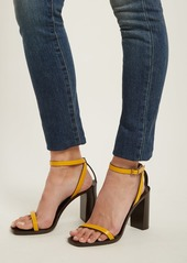 Saint Laurent Loulou wood and leather sandals