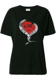 Yves Saint Laurent Saint Laurent Love 1974 T-shirt - Black