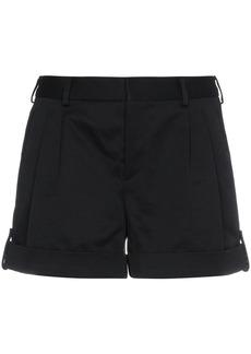 Yves Saint Laurent Saint Laurent low rise pleated front shorts - Black