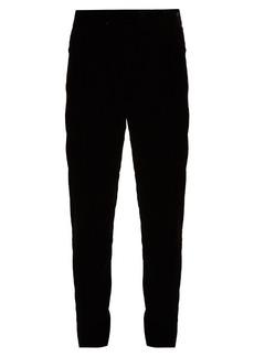 Saint Laurent Low-rise velvet trousers