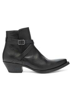 Yves Saint Laurent Saint Laurent Lukas 40 leather boots