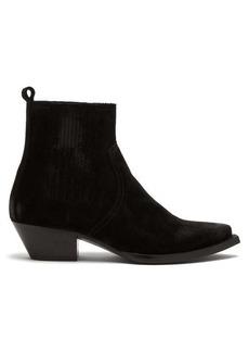 Yves Saint Laurent Saint Laurent Lukas distressed-suede chelsea boots
