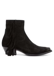 Yves Saint Laurent Saint Laurent Lukas fringed suede boots
