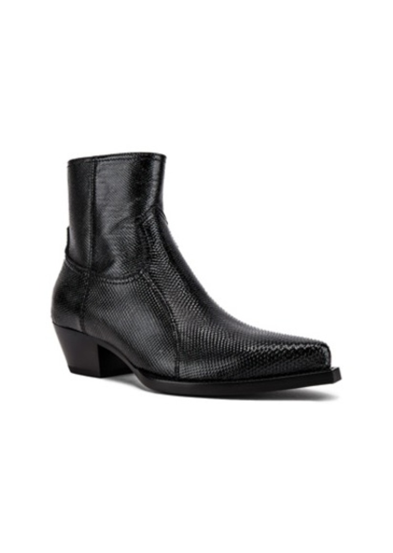 Yves Saint Laurent Saint Laurent Lukas Zipped Lizard Boot
