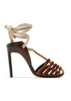 Saint Laurent Majorelle & Mansour leather sandals