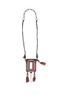Yves Saint Laurent Saint Laurent Marrakech Cigarette Case leather necklace
