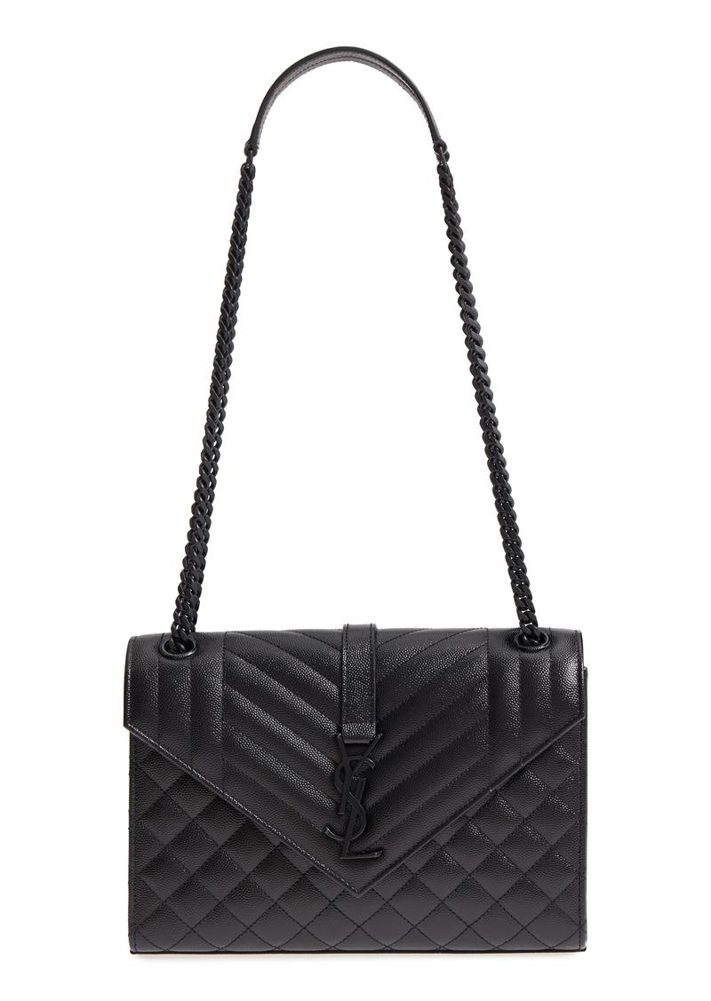 24750ba353a6 Saint Laurent Medium Cassandra Calfskin Shoulder Bag. Saint Laurent toy  Loulou Monogram shoulder bag - Black