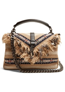 Saint Laurent Medium Collège fringed cross-body bag