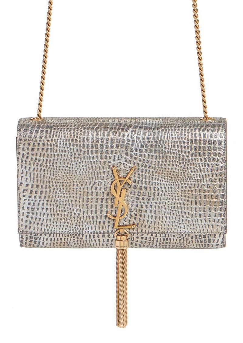3f54865a981a  Medium Kate - Tassel  Croc Embossed Calfskin Leather Crossbody Bag. Saint  Laurent
