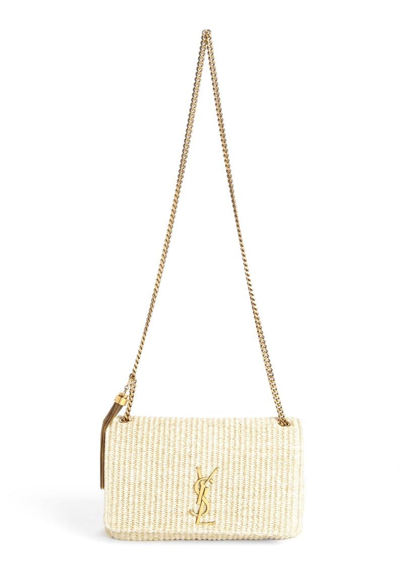 6c07d153d7e Saint Laurent Saint Laurent Medium Kate Raffia Shoulder Bag