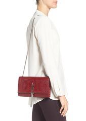 9f094b848c11 ... Saint Laurent Medium Kate Tassel Croc Embossed Calfskin Leather Crossbody  Bag