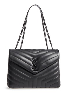 Saint Laurent Medium LouLou Matelassé Leather Shoulder Bag