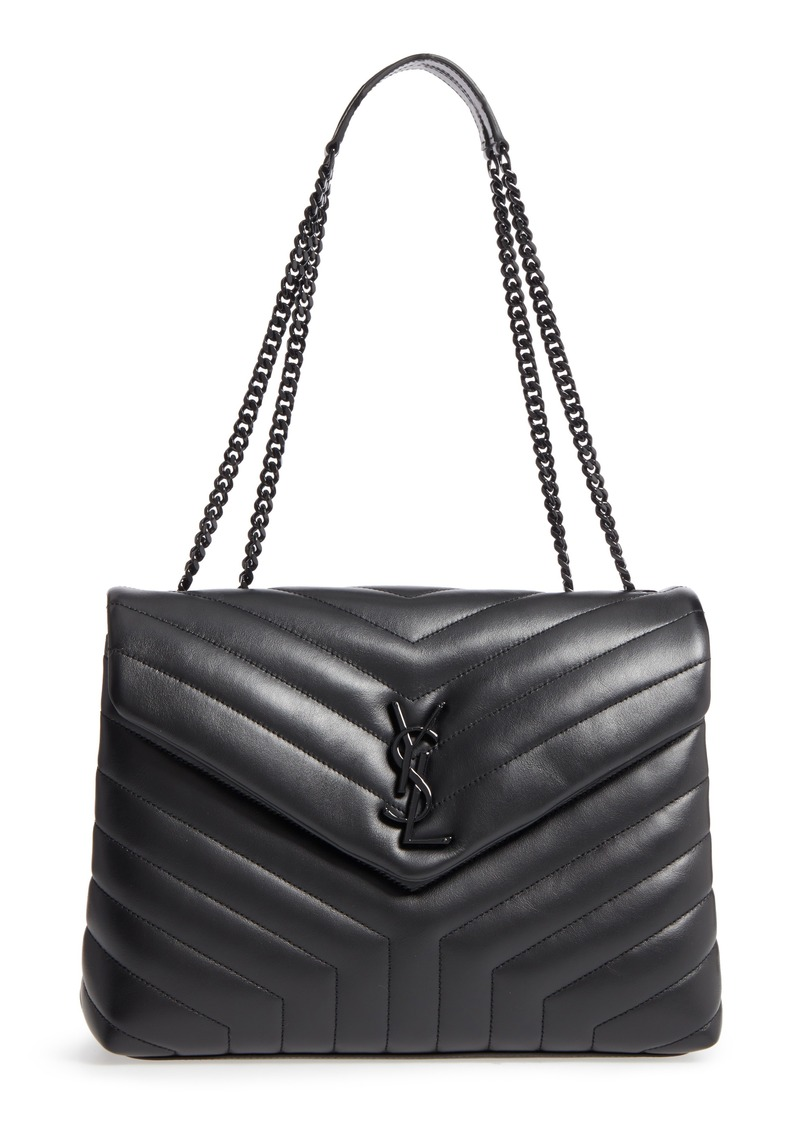 f6a76cb2e889 Saint Laurent Saint Laurent Medium Loulou Matelassé Leather Shoulder ...