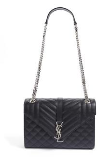 Saint Laurent Large Monogram Quilted Leather Shoulder Bag