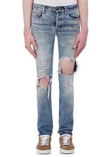 Yves Saint Laurent Saint Laurent Men's Distressed Skinny Jeans