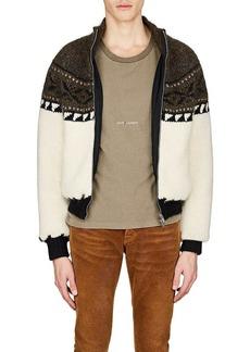 Yves Saint Laurent Saint Laurent Men's Fair Isle Wool-Blend Sweater Jacket