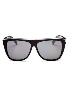 183fad746894b Yves Saint Laurent Saint Laurent Men s Flat Top Square Sunglasses