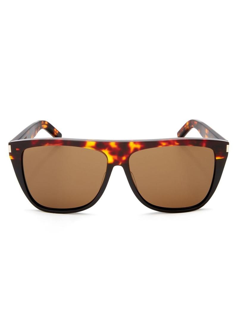 ac8ba93c80 Yves Saint Laurent Saint Laurent Men s Flat Top Square Sunglasses ...
