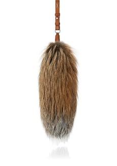 Yves Saint Laurent Saint Laurent Men's Fox Fur Key Chain - Brown
