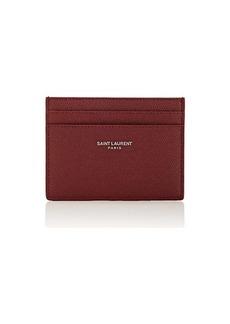 Yves Saint Laurent Saint Laurent Men's Leather Card Case - Red
