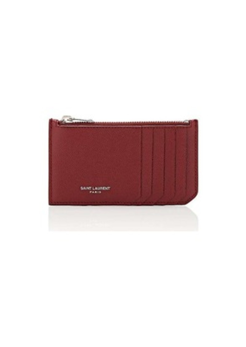 adfdd080757 Yves Saint Laurent Saint Laurent Men's Leather Top-Zip Card Case - Red