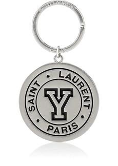 Yves Saint Laurent Saint Laurent Men's Logo Key Chain - Silver