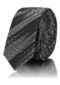 Yves Saint Laurent Saint Laurent Men's Metallic-Striped Silk Necktie