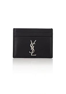 Yves Saint Laurent Saint Laurent Men's Monogram Leather Card Case - Black