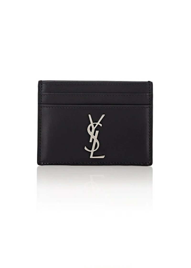 888621ddc95 Yves Saint Laurent Saint Laurent Men's Monogram Leather Card Case - Black