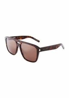 Yves Saint Laurent Saint Laurent Men's Plastic Navigator Sunglasses