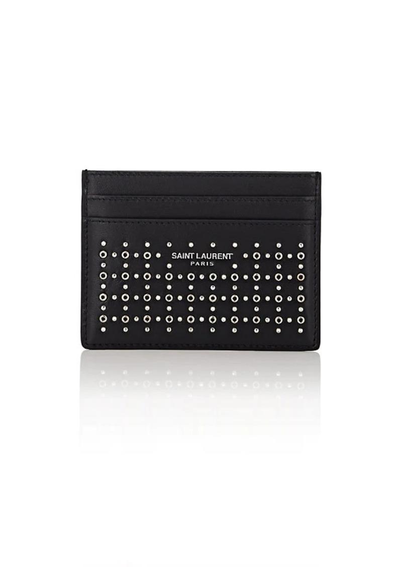 bd56f81558 Saint Laurent Men's Studded Leather Card Case - Black