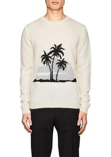 Yves Saint Laurent Saint Laurent Men's Sunset-Motif Mohair-Blend Oversized Sweater