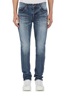Yves Saint Laurent Saint Laurent Men's University Patch Skinny Jeans