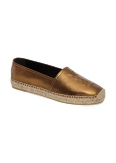 Yves Saint Laurent Saint Laurent Metallic Logo Espadrille (Women)