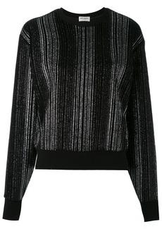 Yves Saint Laurent Saint Laurent metallic pleated sweater - Black