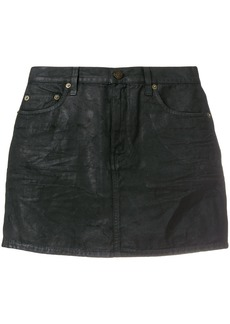 Yves Saint Laurent Saint Laurent micro denim skirt - Black
