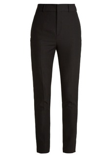 Saint Laurent Mid-rise slim-leg wool trousers