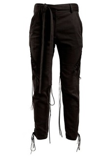 Saint Laurent Mid-rise tie-waist trousers