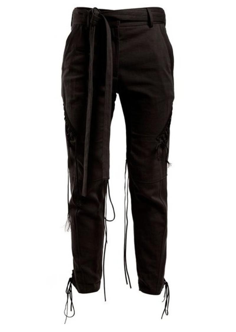 Saint Laurent Mid-rise tie-waist trousers