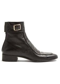 Yves Saint Laurent Saint Laurent Miles buckled leather boots