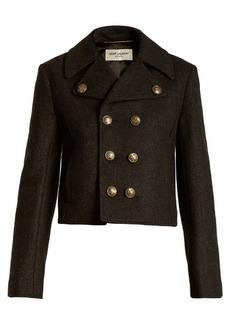 Saint Laurent Military wool cropped jacket